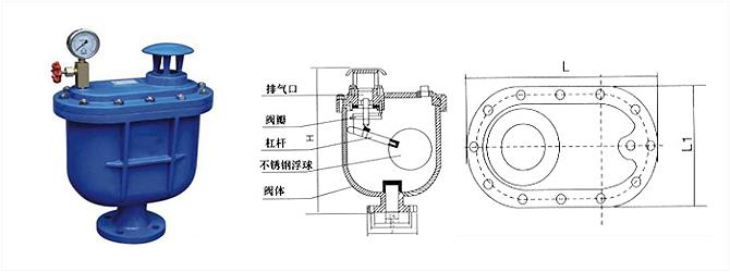 清水复合式排气阀carx图片