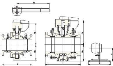 固定式球阀结构示意图
