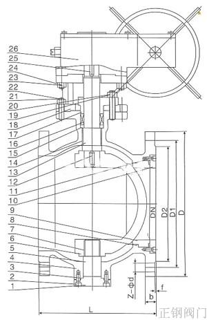 电动偏心半球阀结构图